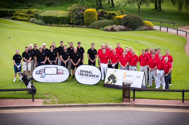 Teams North and South at the Border Cup golf tournament